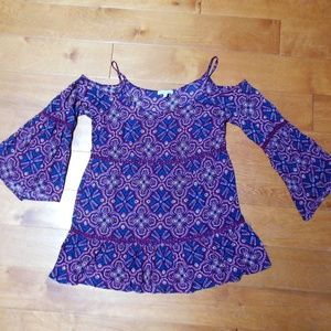 Patrons of Peace Boho Top size Small
